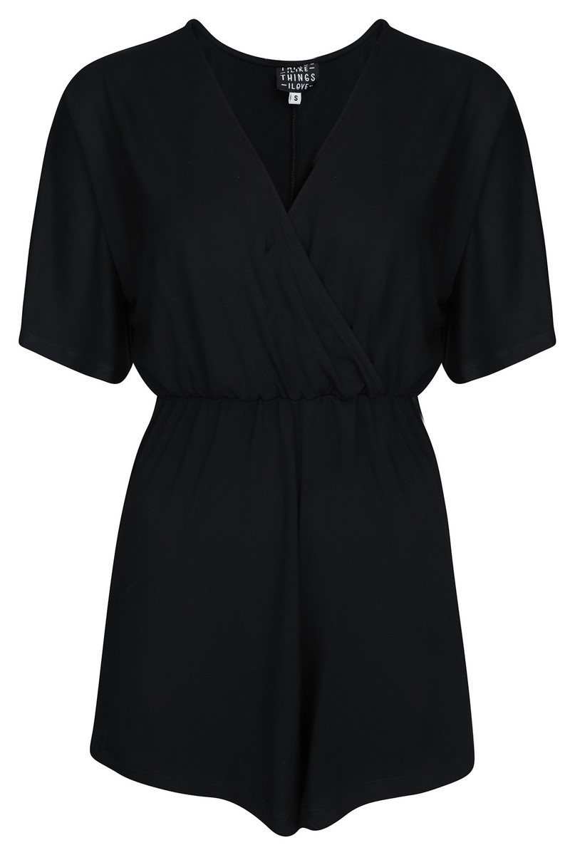 Things I Like Things I Love Jumpsuit & playsuit Zwart KIMONO